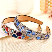 Korean hair accessories Crystal band Elk velvet hair ornament hairpin jewelry fashion headband fashion female water drill collar