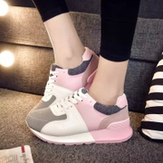 2015 Korean fashion mixed colors for fall/winter sneakers casual shoes autumn spell color with flashes shoes platform shoes