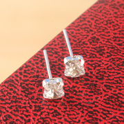 Cool na small Stud Earrings Korean rhinestones earrings women's earrings set in lovely ivory 2017