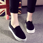 2015 lazy autumn new a pedal shoe low solid thick-soled platform shoes to help student shoes canvas shoes Lok Fu shoes women