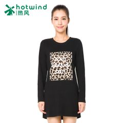 Hot women's clothing in the spring and autumn and Leopard-print letters long sleeve long t-shirt women wave slim Korean jacket 09H5700