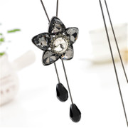 Love necklace sweater chain long female flowers pendants Joker accessories autumn and winter fashion Japan Korea clothing accessories
