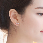 Korea fashion Joker townhouse accessories jewelry zircon flower star Stud Earrings