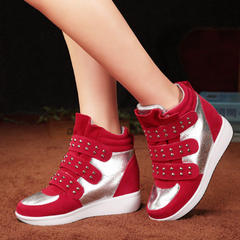 MI Ka 2015 fall within the new Korean wave stealth increases women's high shoes leisure shoes Velcro shoes