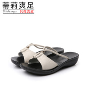 Tilly cool feet in summer 2015 new thongs Lady's slippers, beach shoes, casual and comfortable flat shoes
