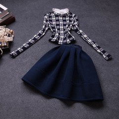 Style Couture 2014 European fashion elegance slim suit early autumn new fall clothing long sleeve dress