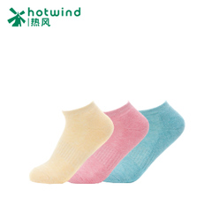 Hot new Candy-colored ladies sport socks are comfortable and breathable short warm winter socks 83H01500