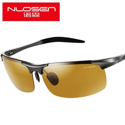 诺森智能变色夜视偏光司机驾驶镜日夜两用男开车专用铝镁太阳眼镜