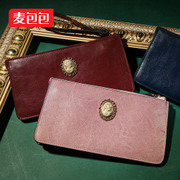 Wheat bags 2015 summer new fashion in Europe and America wax leather two-story of Candy-colored vintage cowhide leather women's hand bags