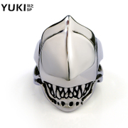 YUKI new titanium steel men''s rings rings single domineering personality Europe hipster cool alien Club accessories