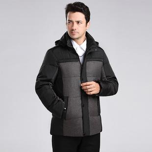 新款冬装中老年羽绒服时尚爸爸装中年男装父亲加厚保暖男士外套男