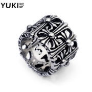 YUKI retro domineering men''s index finger ring titanium steel ring ring ring punk girls Club accessories