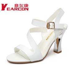 YEARCON/er Kang 015 summer new real fashionable European wind strap high heel shoes women sandals
