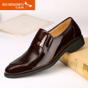 Red Dragonfly genuine leather men's shoes new business attire paint bright skin comfortable foot men's shoes shoes