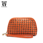 Wanlimawanlima 2015 fall/winter new style leather woven ladies hand bags trends clutch