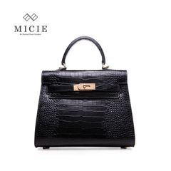 MICIE/beautiful city new mini Kelly bags, crocodile pattern leather handbag slung Bao Kaili