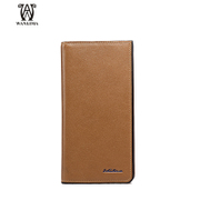 Wanlima/around 2016 new men's wallet large zip around wallet leather men's wallet thread capacity