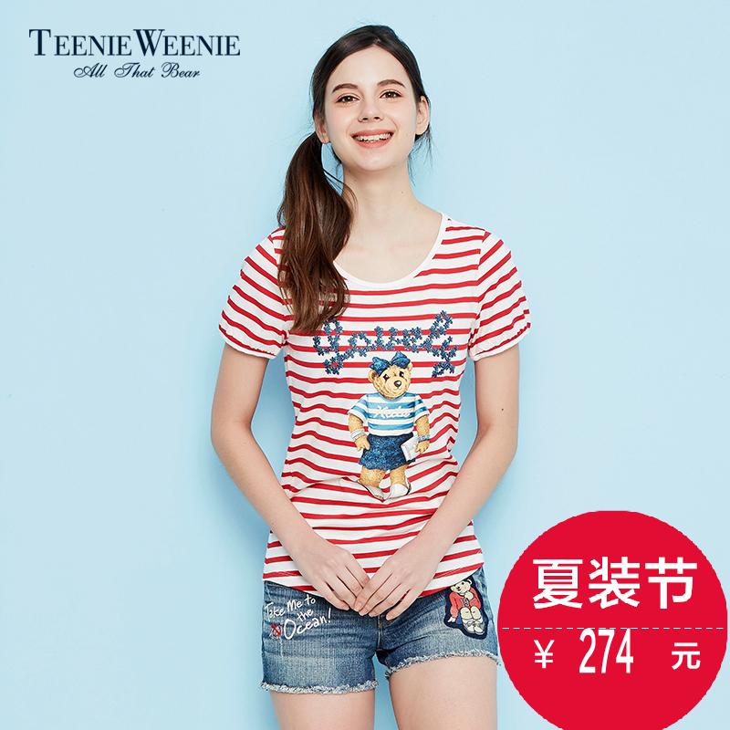 Teenie Weeniebob游戏平台2016春夏新品时尚经典女装T恤TTRA66303I