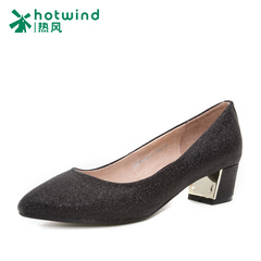 Hot air in the spring of 2016 new fashion shoes asakuchi shoes work shoes black professional women shoes H03W6105
