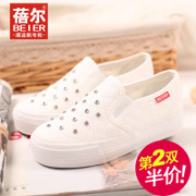 Becky fall 2015 new low sneakers girl Korean version flows muffin thick soled shoes shoes shoes the lazy man shoes