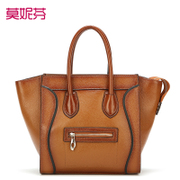 2015 new leather women bag European leather ladies bags Messenger bags women handbag shoulder bag baodan smiley face