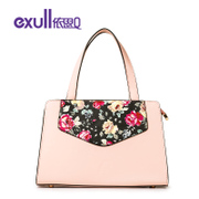 Exull q2016 new spring shoulder bag casual printing pink magnetic clasp hand bag for 16311272