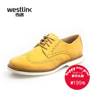 2015 West vintage England autumn new Brock Oxford Shoes carved leather men's casual shoes men's shoes shoes