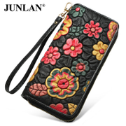 Chun LAN-LAN-June 2016 new Jurchen authentic wallet leather genuine