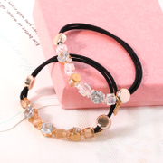 Know NI Korea clean Korean ladies Crystal beaded rope ponytail hair band hair accessory jewelry