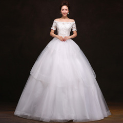 Purple Fairy bride wedding gowns 2015 spring/summer new style one shoulder strap Qi Di Princess Bride wedding dress