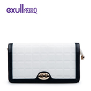Exull q2015 spring new fashion colour matching shoulder clutch bag purse zipper bag for 15324066