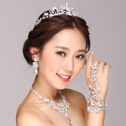 Good pretty jewelry bridal wedding accessories ring bracelet hand chain one chain Korean jewelry