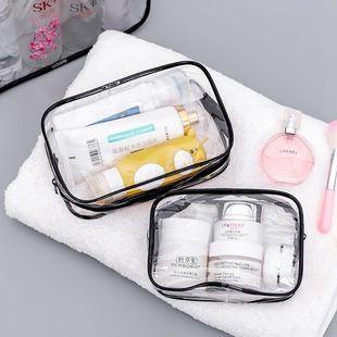 旅行洗漱包透明化妆包女士手提男士防水pvc浴包大容量旅游收纳袋图片