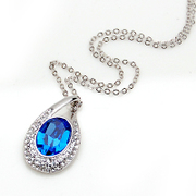 Smiling post new water drop diamond pendant necklace collar accessory pendant jewelry women pendant jewelry