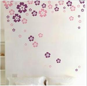 Romantic festive flowers wall stickers TV background sofa boutique decals glass stickers room decoration stars stickers