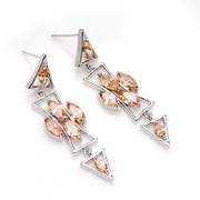 Smiling Korean bride long zircon earring earring earring earring Korea earloop accessory female 357021