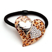 Smiling Leopard Czech rhinestone jewelry Korean version of the new popular love withhold decorative comb 350256