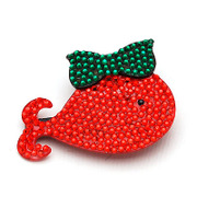 Mimi jewelry package email new year Red fish tip pin fashion jewelry Korean style