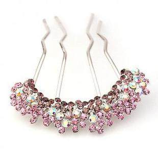 H003 good jewelry hair accessory Korea jewelry rhinestone hairpin hair clip comb insert made by Bob Combs