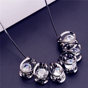 Good Korea fashionable Korean accessories women accessories rhinestone short clavicle chain pendant necklace Joker package mail