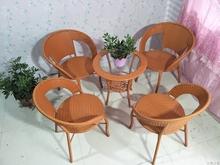 阳台桌椅户外藤椅三件套客厅休闲(小)ee13子包邮7g院茶几组合