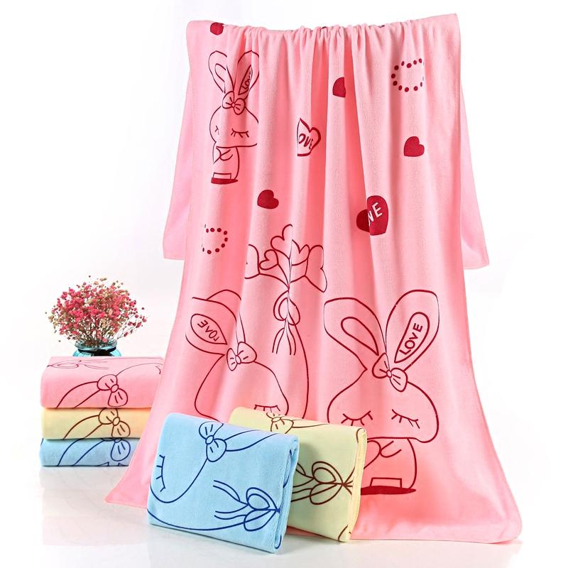 浴巾男女成人个性感卡通比纯棉柔软强吸水可爱韩版速干大毛巾礼品