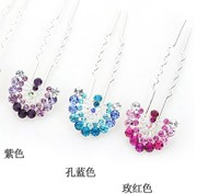 L010 good jewelry Korea headwear fashion beautiful Peacock rhinestone hair hairpin hair sticks pin