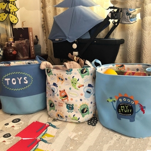 Export baby toy storage basket cartoon dirty clothes barrel cloth sundries basket finishing box clothing storage bucket dirty clothes basket
