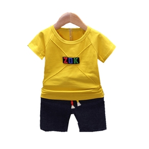 Children's summer short-sleeved suit new kids clothes baby 1-3-5 children's clothing boys summer two-piece suit 2