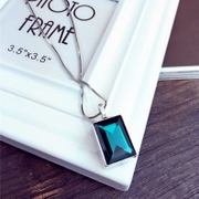 Nice rectangular elegant European fashion jewelry necklace collar bone pendant necklace chain accessories Korea jewelry