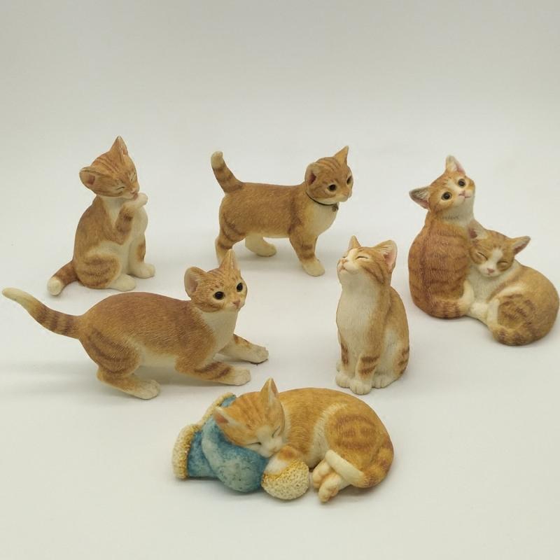 仿真小猫家居装饰品摆件创意礼物可爱礼品树脂动物猫咪工艺品摆设