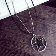 Good Korea exaggerated pentacle necklace, long necklace Women Accessories Accessories fall/winter tide package mail