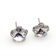 Smiling Czech plum blossom earrings Korean beautiful shiny Stud Earrings 356885 series