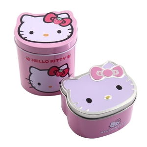 Children's hair accessories storage box finishing box trinkets gift packaging accessories jewelry box cartoon canned box